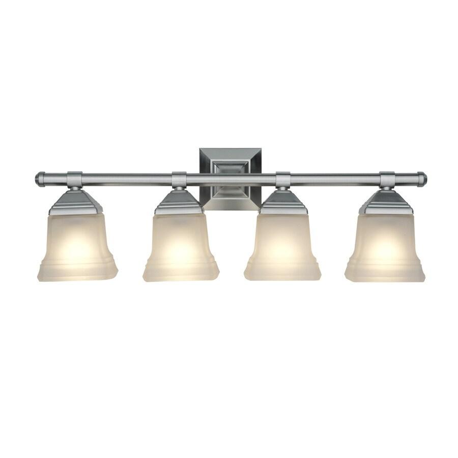 Portfolio 4-Light Brushed Nickel Vanity Light