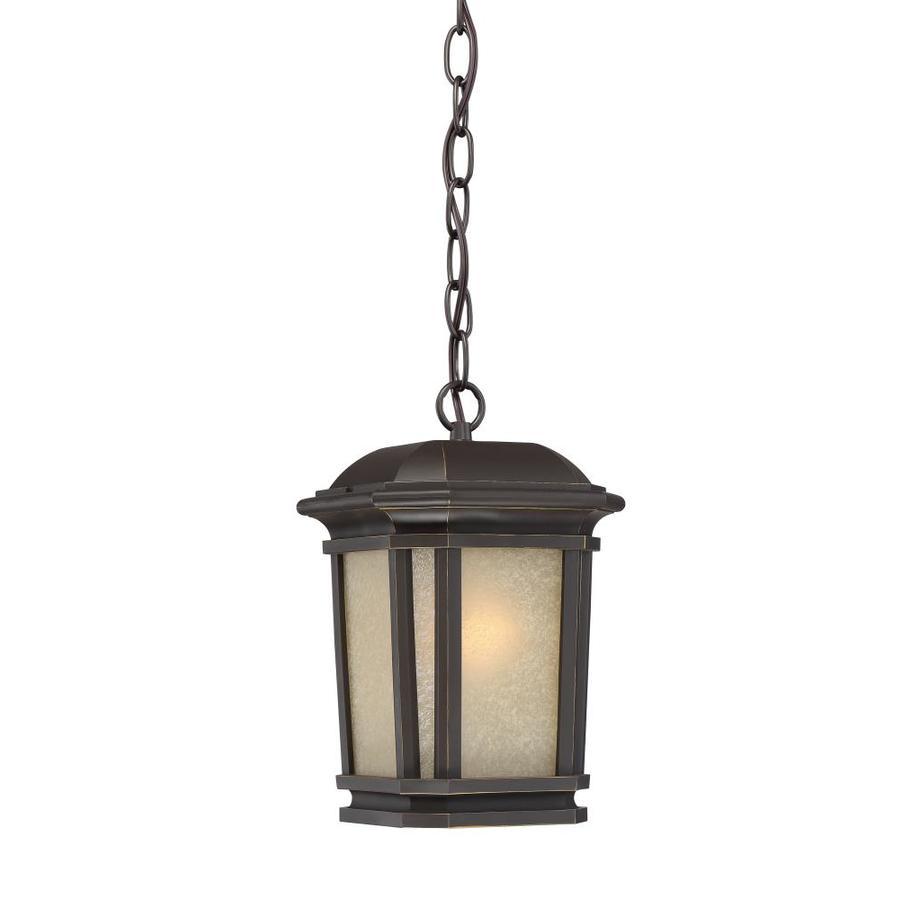 Quoizel Corrigan 11-in Bronze Outdoor Pendant Light