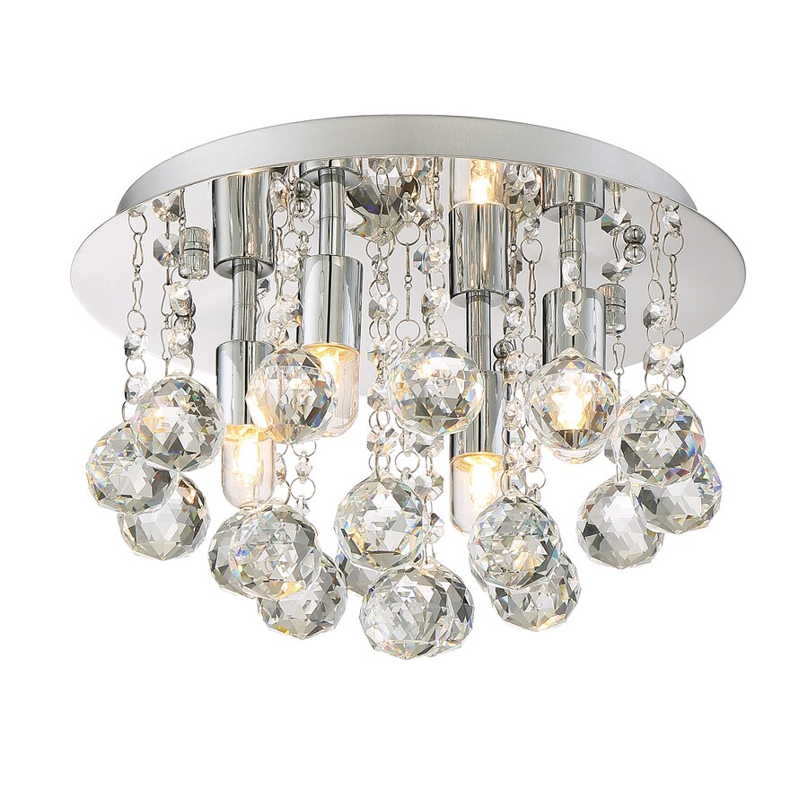 Style Selections 12-in W Polished Chrome Ceiling Flush Mount Light