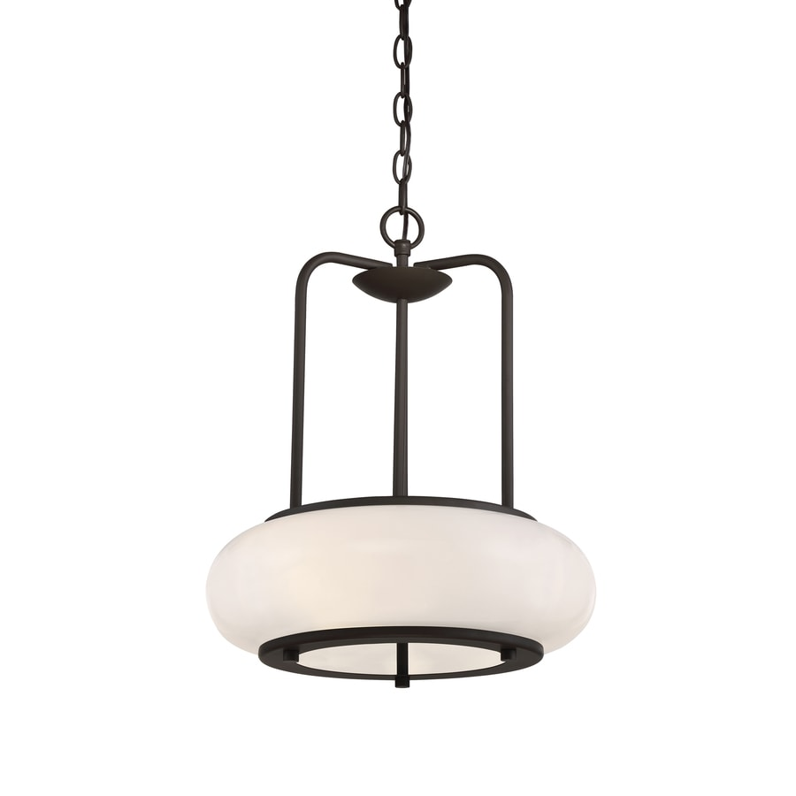 Quoizel Tribeca 16-in Painted Vintage Gold Multi-Light Clear Glass Oval Pendant