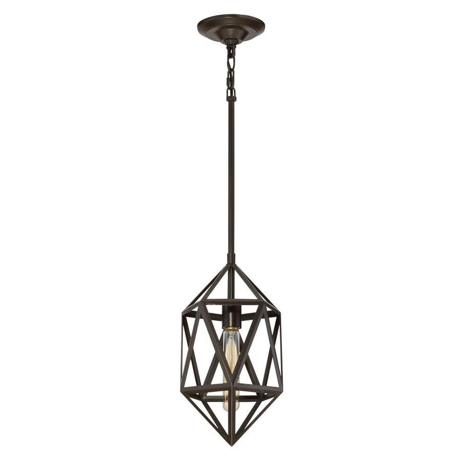 Quoizel Liberty Park 8-in Painted Bronze Industrial Mini Geometric Pendant