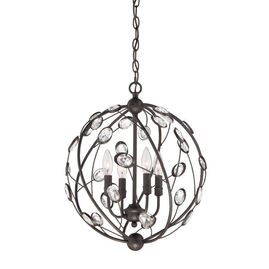 Quoizel Sedona 16-in Bronze Multi-Light Orb Pendant