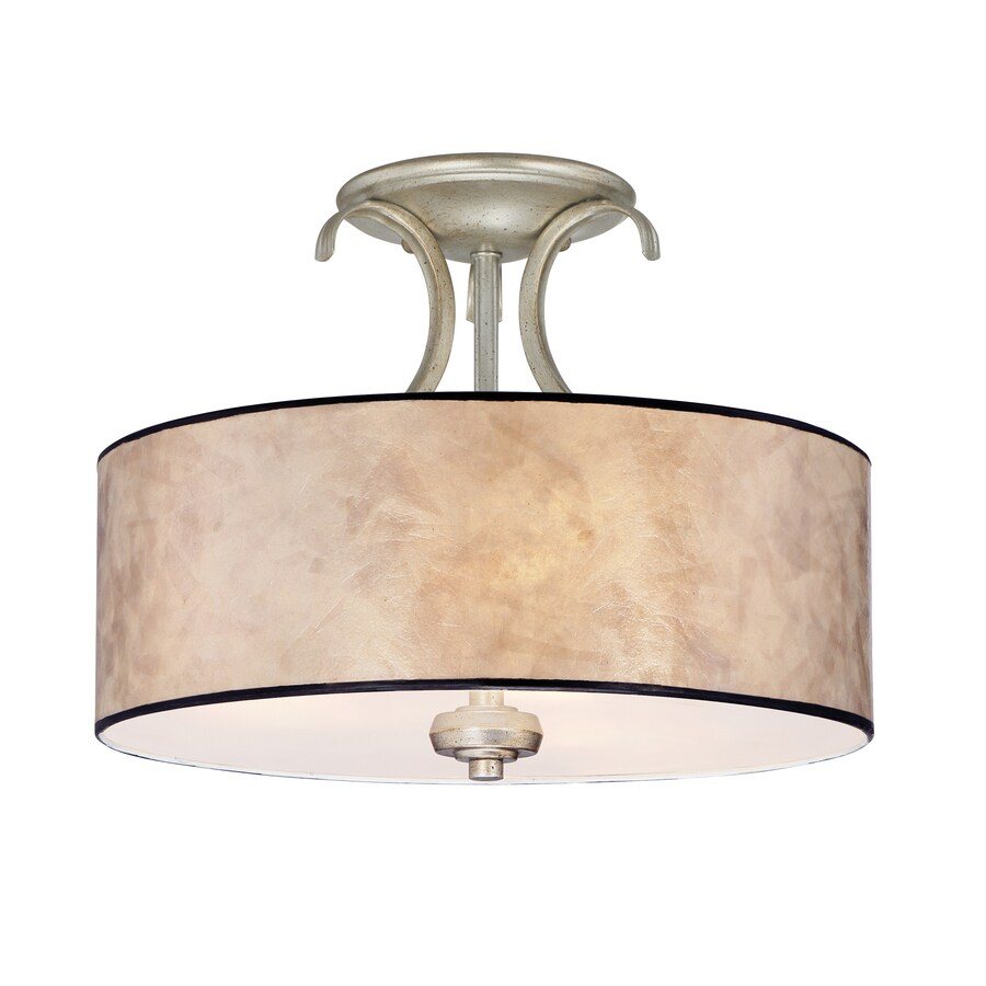 Semi flush ceiling light replacement glass : Quoizel jenna in w gold etched glass semi flush