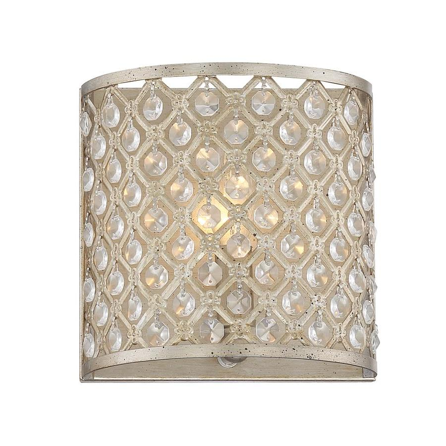 Quoizel Juliana Painted Vintage Gold Crystal Accent Bathroom Vanity Light
