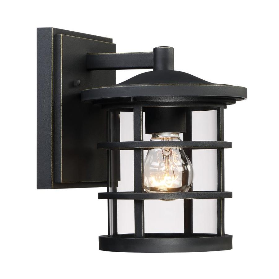 Quoizel Asheville 8.75-in H Dark Oil-Rubbed Bronze Outdoor Wall Light