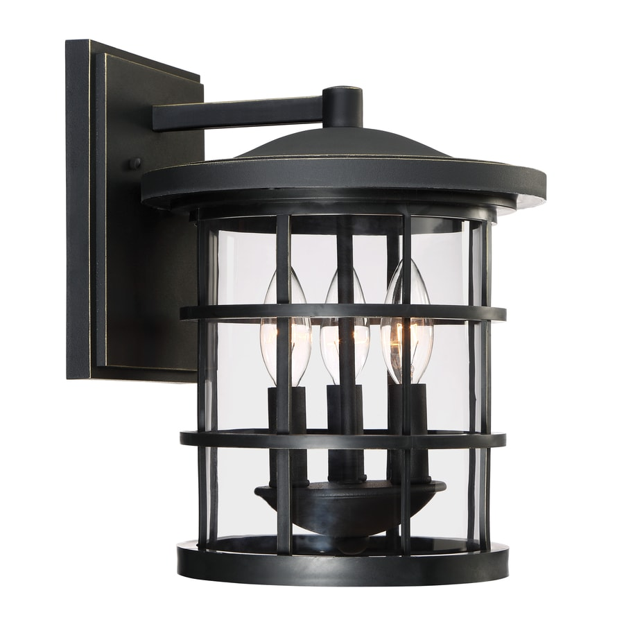 Quoizel Asheville 12.625-in H Dark Oil-Rubbed Bronze Outdoor Wall Light