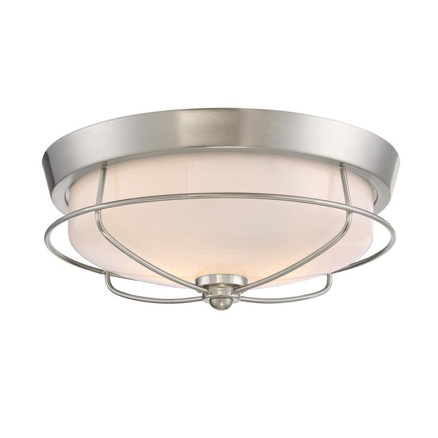 Portfolio Valdara 14.88-in W Brushed Nickel Ceiling Flush Mount Light