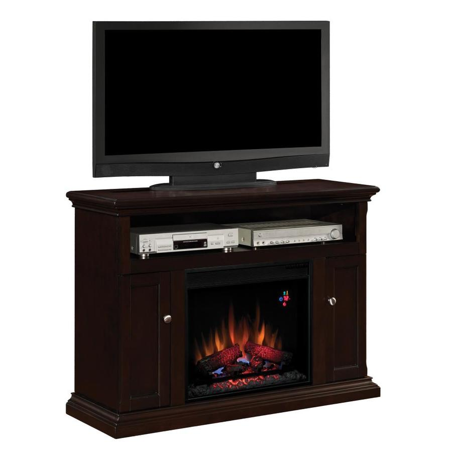 Chimney Free 47.25-in W 4,600-BTU Espresso Wood and Metal Wall Mount Electric Fireplace with Thermostat and Remote Control