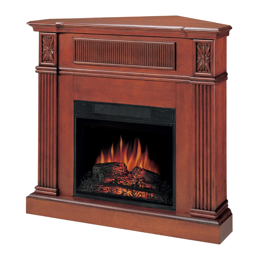 "Style Selections 23"" Cherry Electric Vent Free Fireplace"