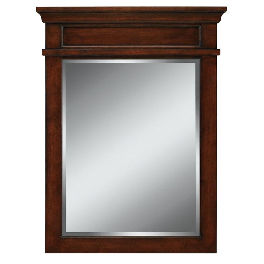 allen + roth Hartley 26-in W x 34-in H Mink Rectangular Bathroom Mirror