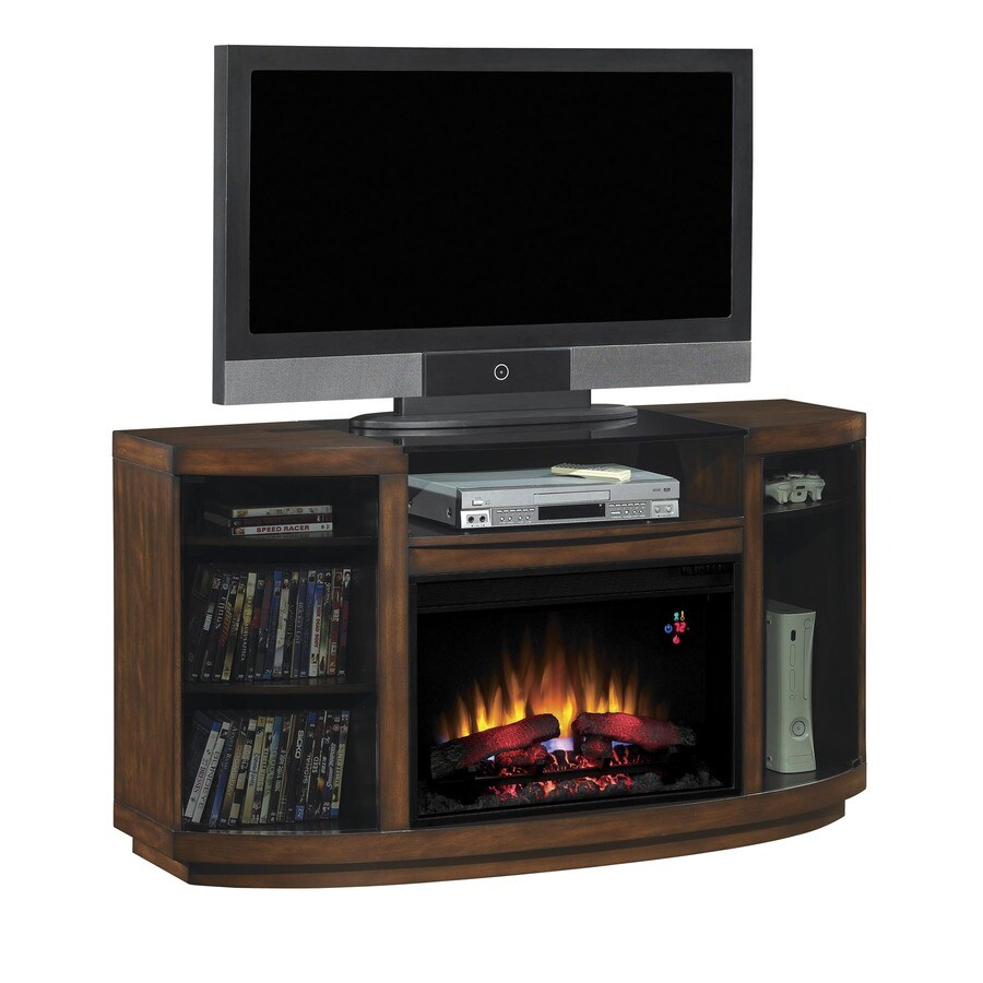 Chimney Free 55-in W Autumn Birch Wood Electric Fireplace with Thermostat and Remote Control