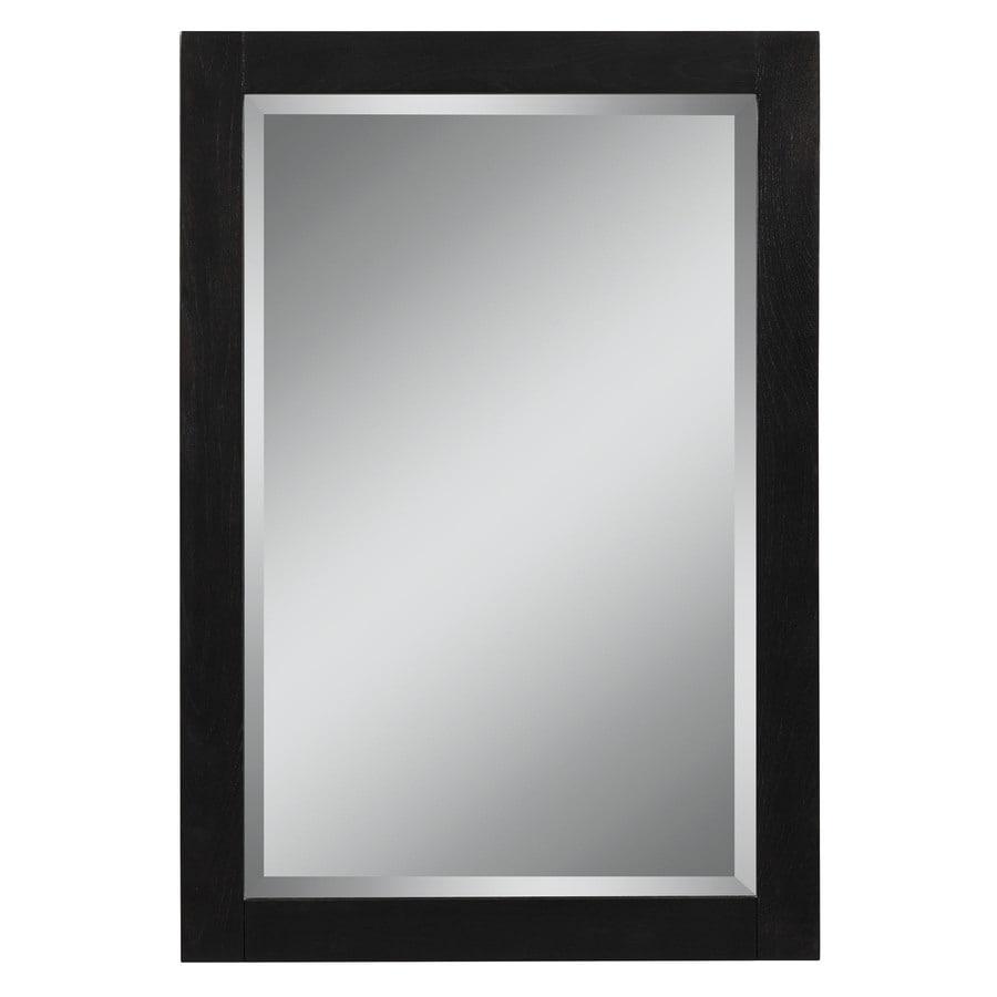 Style Selections Foley 22-in W x 32-in H Espresso Rectangular Bathroom Mirror