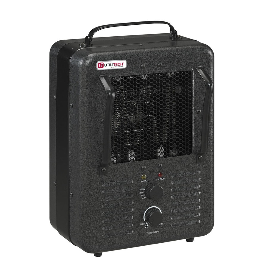 Utilitech Compact Personal Electric Space Heater with Thermostat
