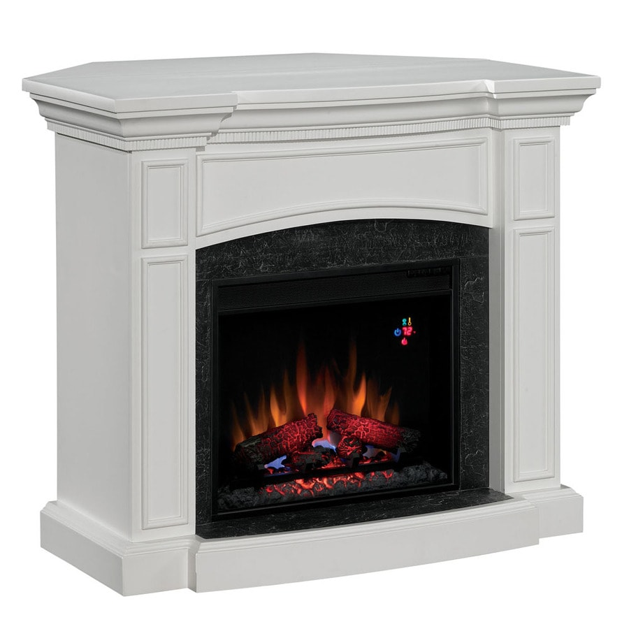 shop chimney free 44 in white corner electric fireplace at