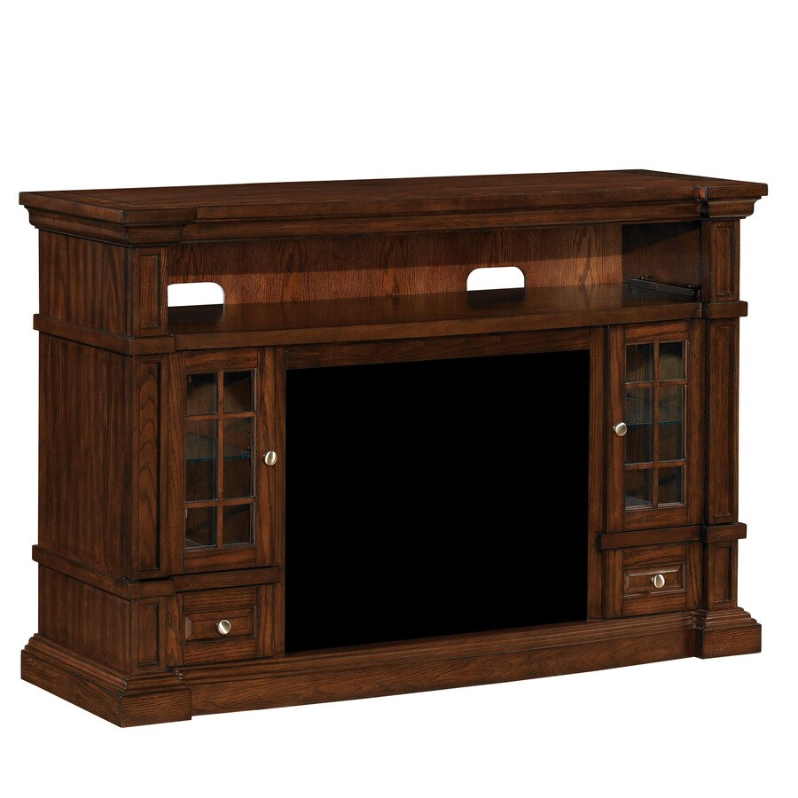 Shop Classicflame Belmont Caramel Oak Rectangular Fireplace Tv Stand At