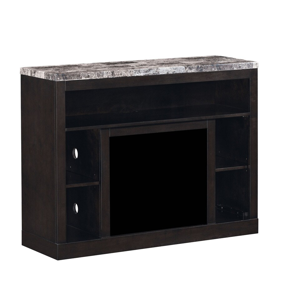 shop classicflame adams coffee black rectangular fireplace