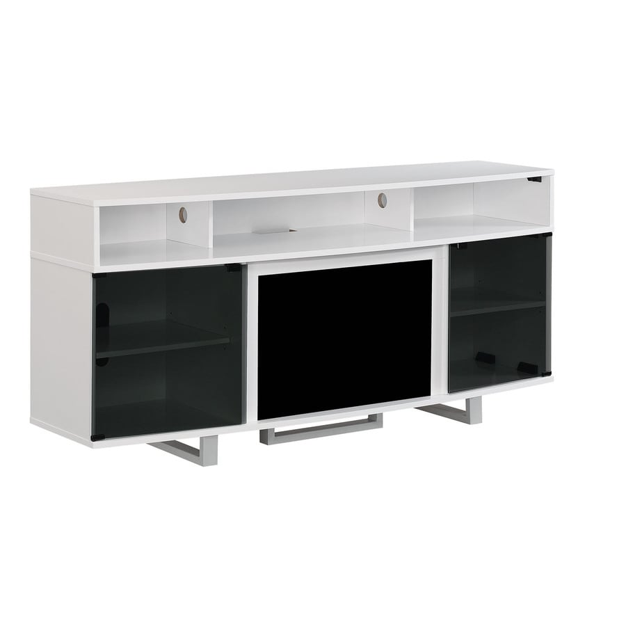 shop classicflame enterprise high gloss white rectangular