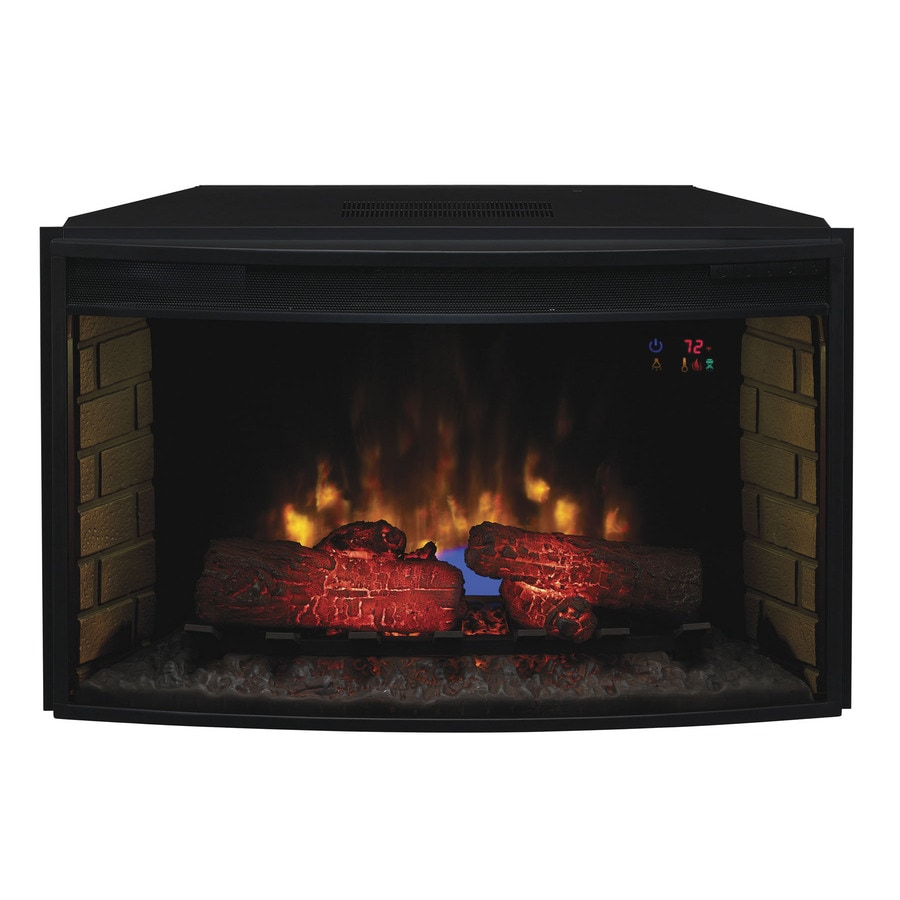 Shop Classicflame 34 1 In Black Electric Fireplace Insert At