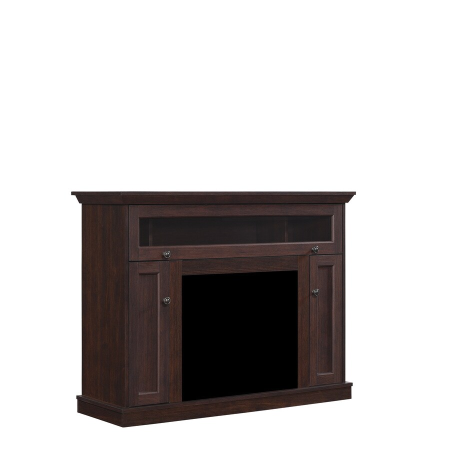 Chimney Free Windsor Midnight Cherry Rectangular Fireplace TV Stand