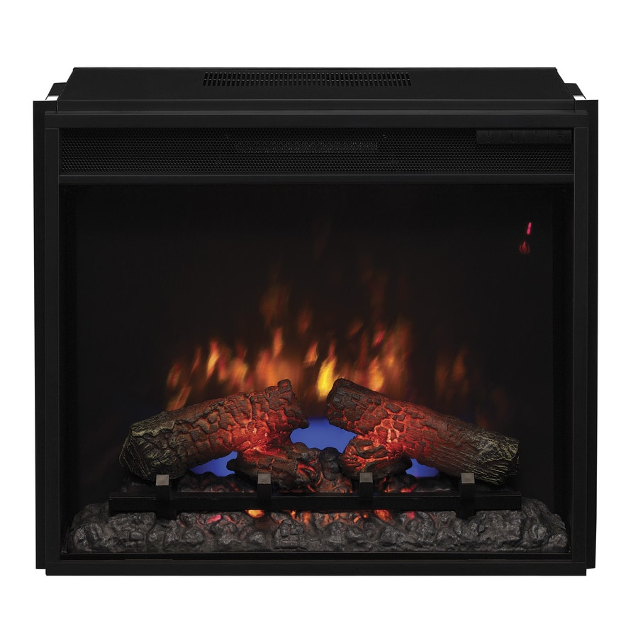 25.1875-in Black Electric Fireplace Insert
