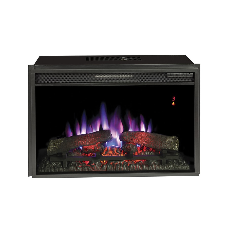 28.3125-in Black Electric Fireplace Insert