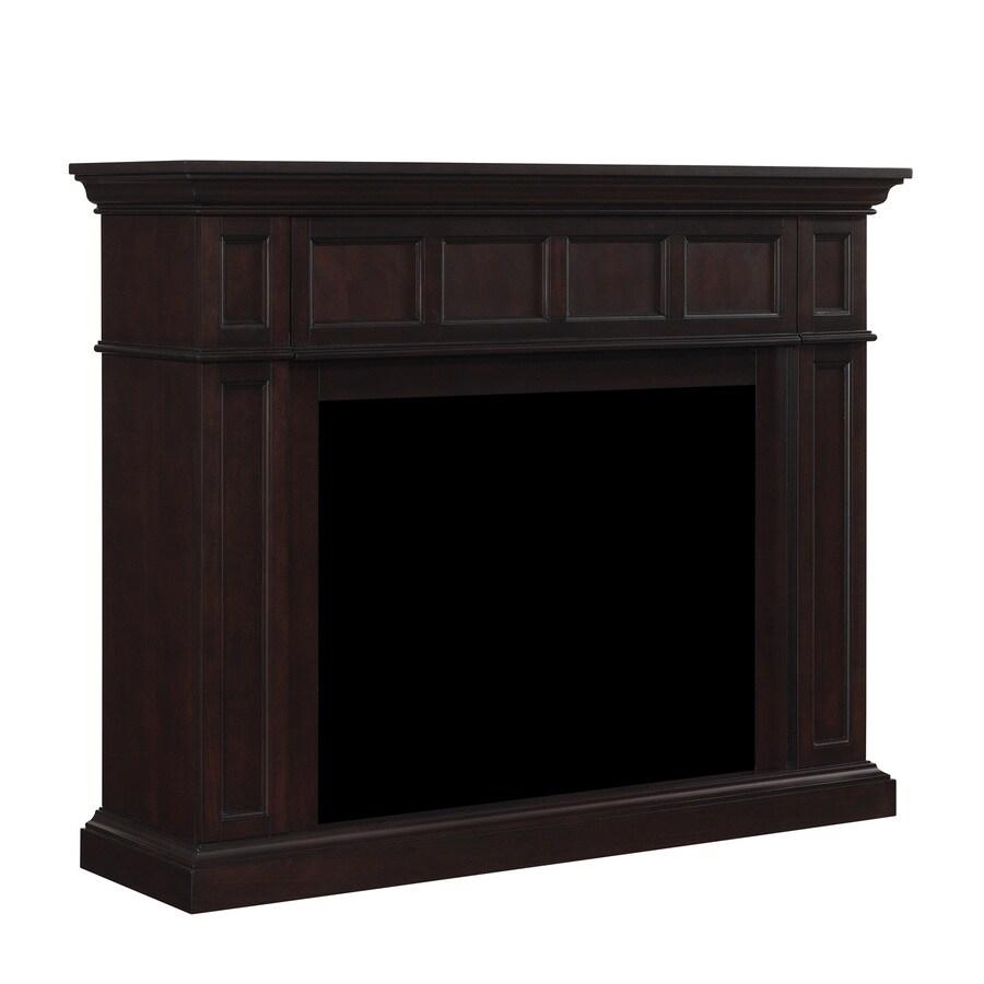 Chimney Free 55-in W x 44-in H Espresso Poplar Traditional Fireplace Surround