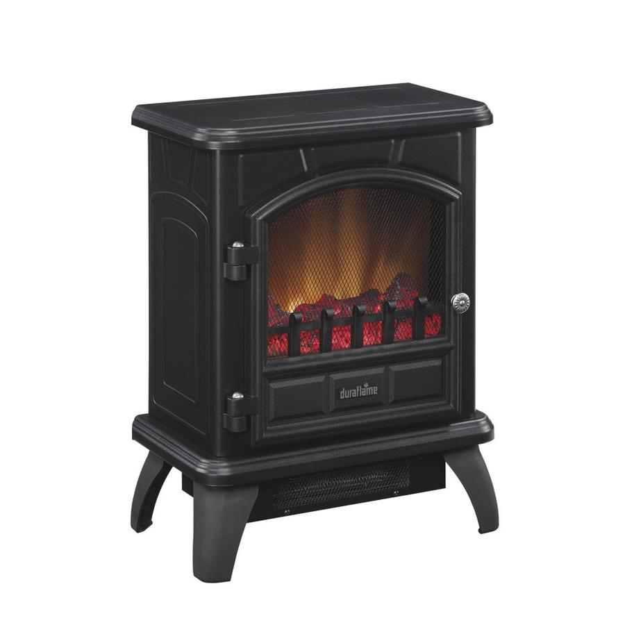 Duraflame 17-in W 5,200-BTU Black Metal Flat Wall Infrared Quartz Electric Stove with Thermostat