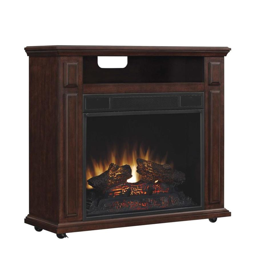 Duraflame 31.5-in W 5,200-BTU Cherry Wood Infrared Quartz Portable Electric Fireplace with Thermostat and Remote Control