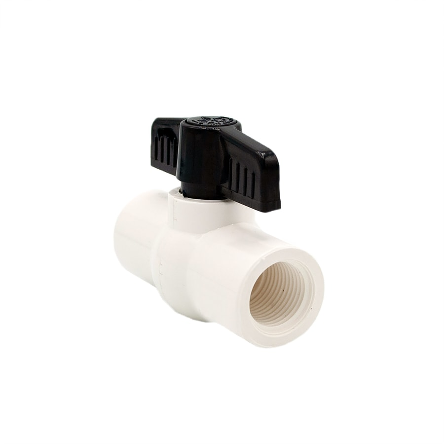 AMERICAN VALVE 1/2-in PVC Sch 40 Female In-Line Ball Valve with Integral Stops