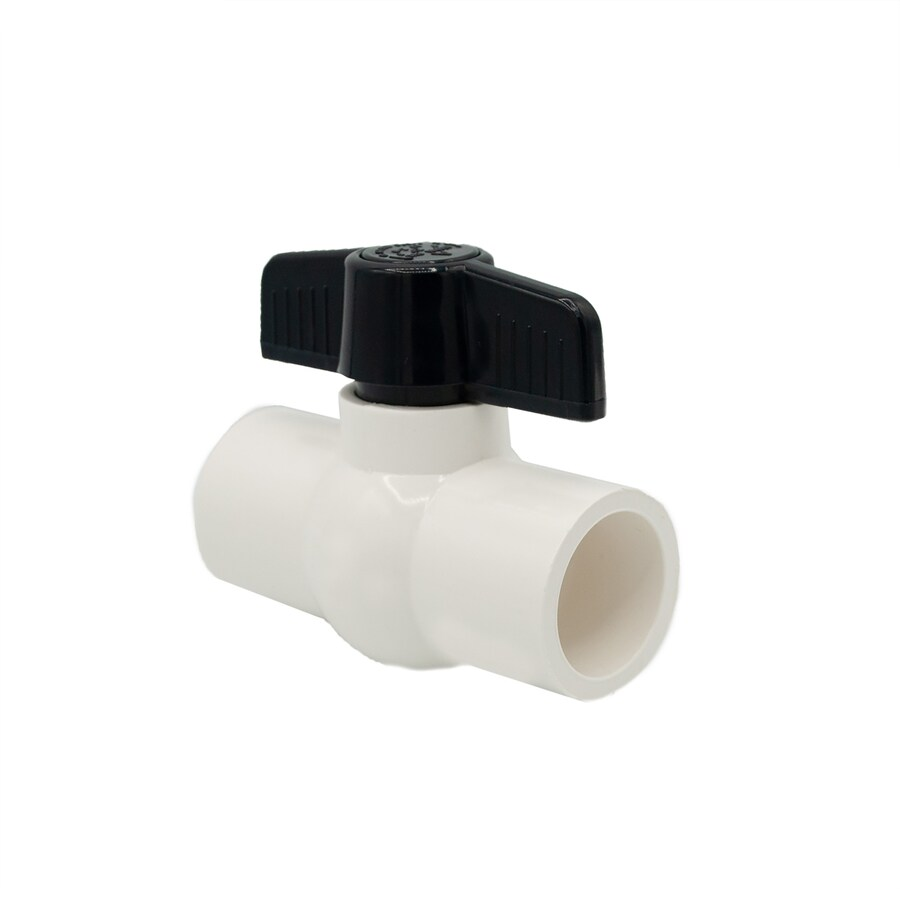 AMERICAN VALVE 1-in PVC Sch 40 Socket In-Line Ball Valve