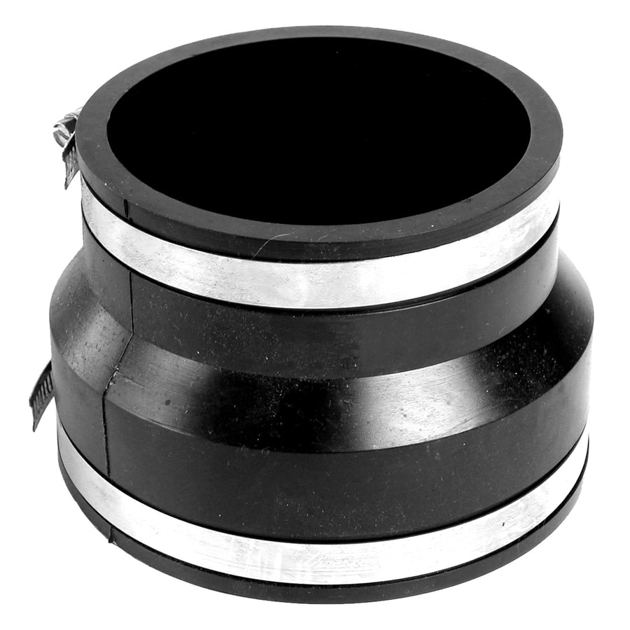 AMERICAN VALVE 4-in x 3-in Dia Flexible PVC Coupling Fittings