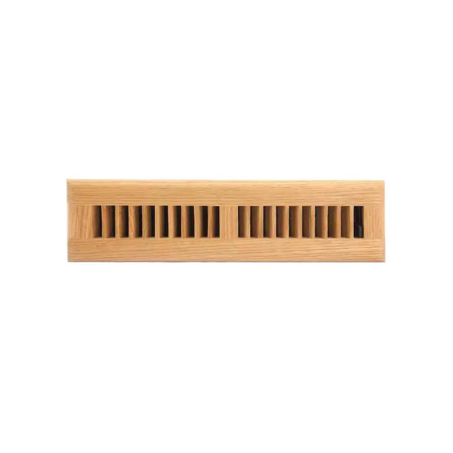 allen + roth Oak Light Stain Wood Floor Register (Rough Opening: 12-in x 2-in; Actual: 13.39-in x 3.58-in)