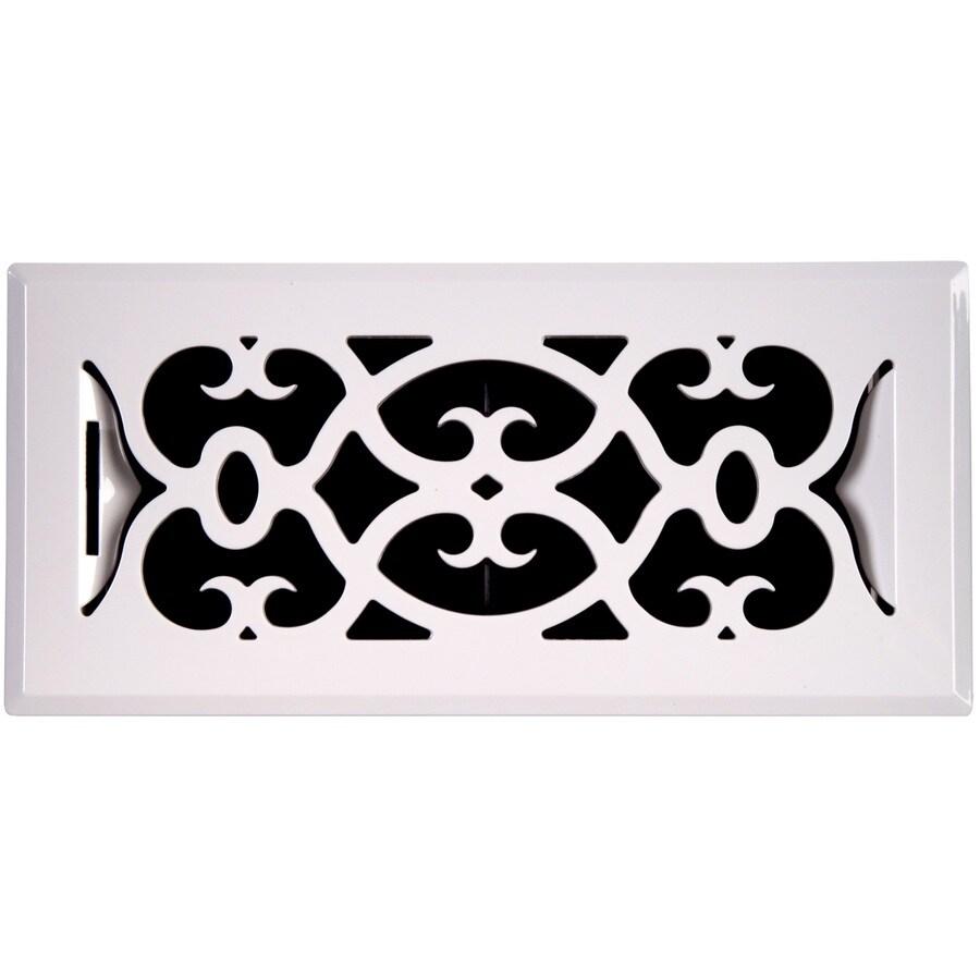 allen + roth Victorian ABS Resin Floor Register (Rough Opening: 10-in x 4-in; Actual: 11.42-in x 5.4-in)