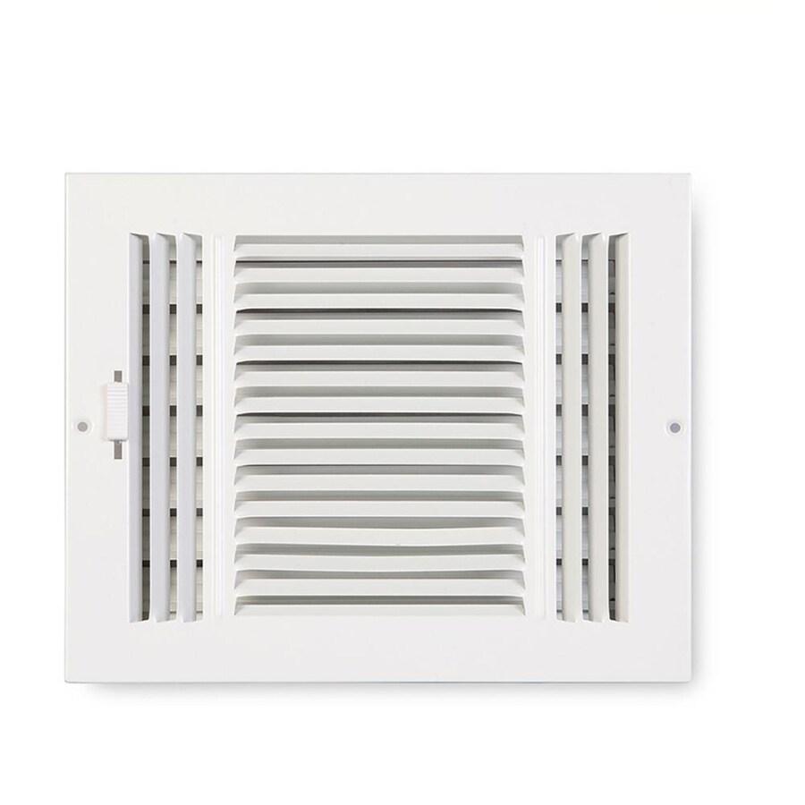 Accord 203 Series Painted Steel Sidewall/Ceiling Register (Rough Opening: 4-in x 10-in; Actual: 11.78-in x 5.71-in)