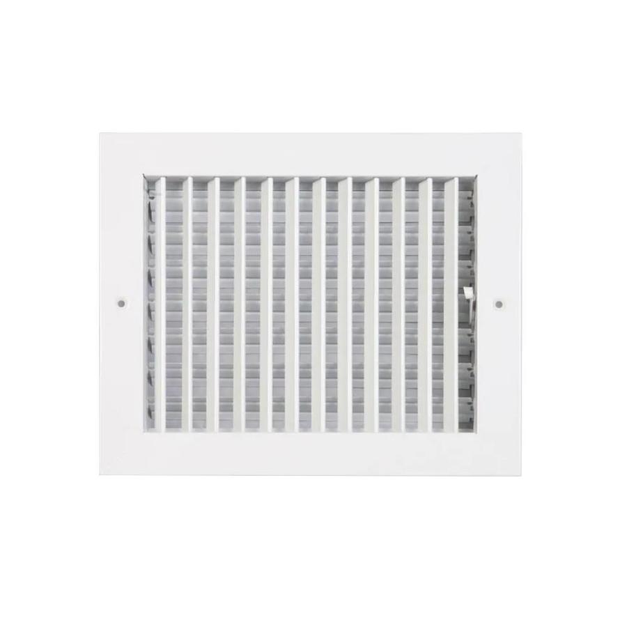 Accord 260 Series Painted Steel Sidewall/Ceiling Register (Rough Opening: 6-in x 10-in; Actual: 11.78-in x 7.76-in)