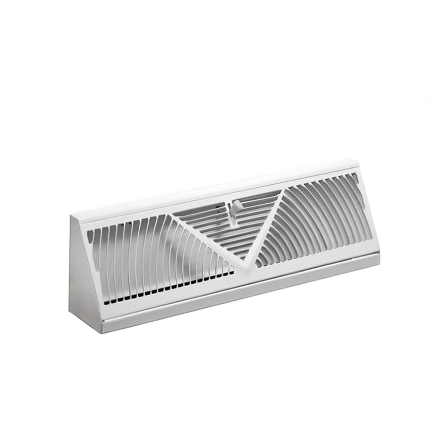 Accord 150 Series White Steel Baseboard Diffuser (Rough Opening: 4.5-in x 12-in; Actual: 15.05-in x 4.5-in)