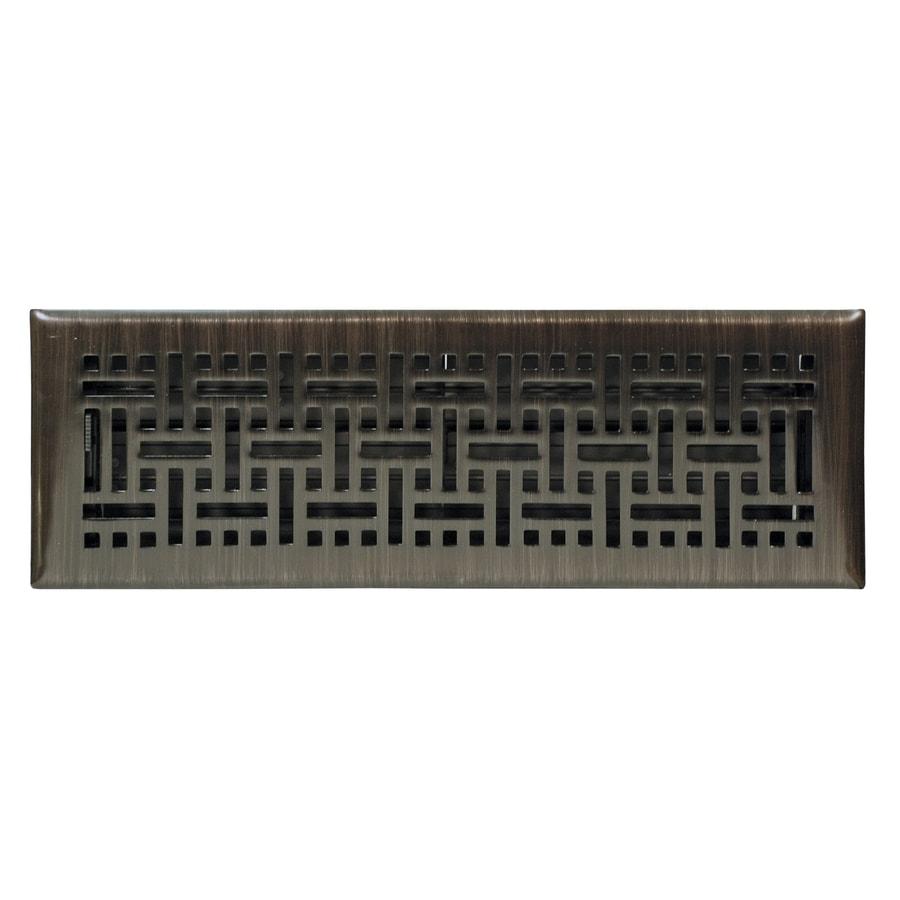 allen + roth Wicker Oil-Rubbed Bronze Steel Floor Register (Rough Opening: 12-in x 4-in; Actual: 13.39-in x 5.36-in)