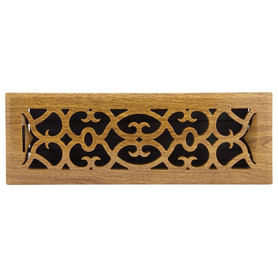 Accord Victorian ABS Resin Floor Register (Rough Opening: 14-in x 4-in; Actual: 15.39-in x 5.37-in)