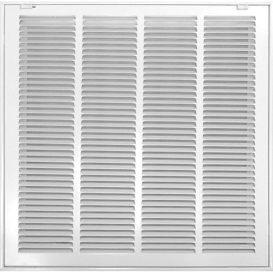 Accord 520 Series White Steel Louvered Sidewall/Ceiling Grilles (Rough Opening: 12-in x 12-in; Actual: 14.54-in x 14.54-in)