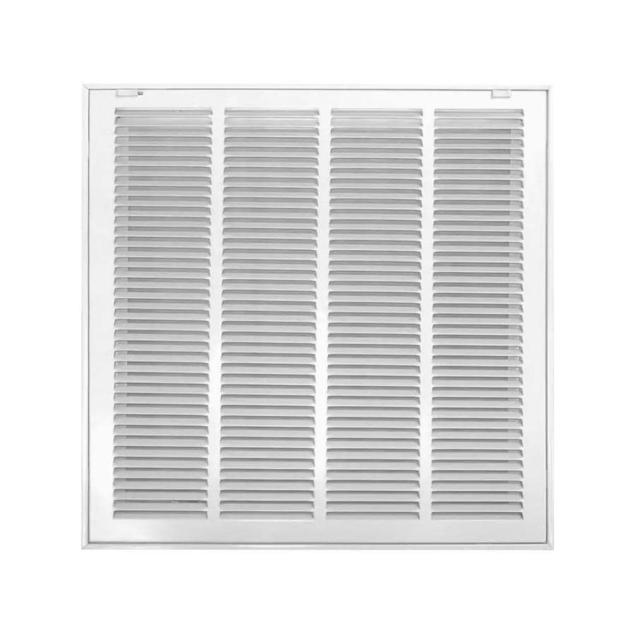 Accord 520 Series White Steel Louvered Sidewall/Ceiling Grilles (Rough Opening: 25-in x 14-in; Actual: 27.65-in x 16.63-in)