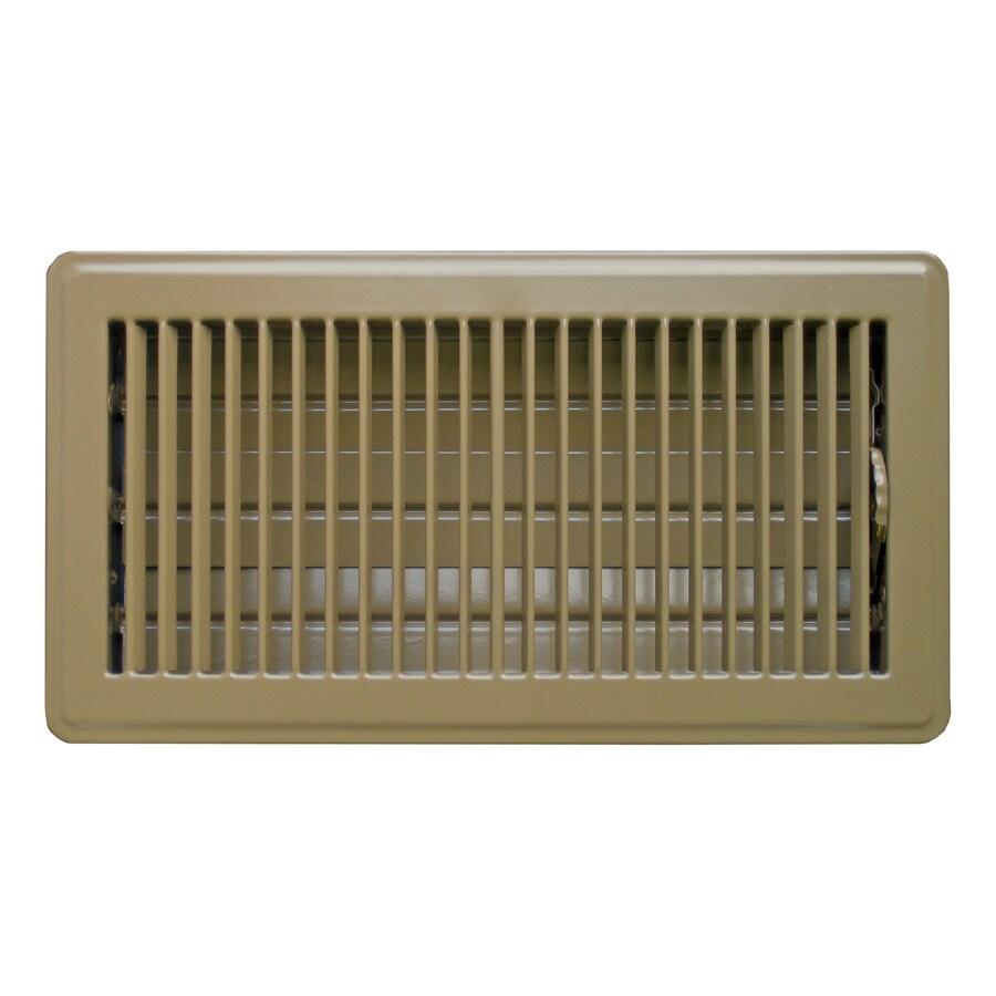 Accord 101 Series Painted Steel Floor Register (Rough Opening: 10-in x 6-in; Actual: 11.58-in x 7.6-in)