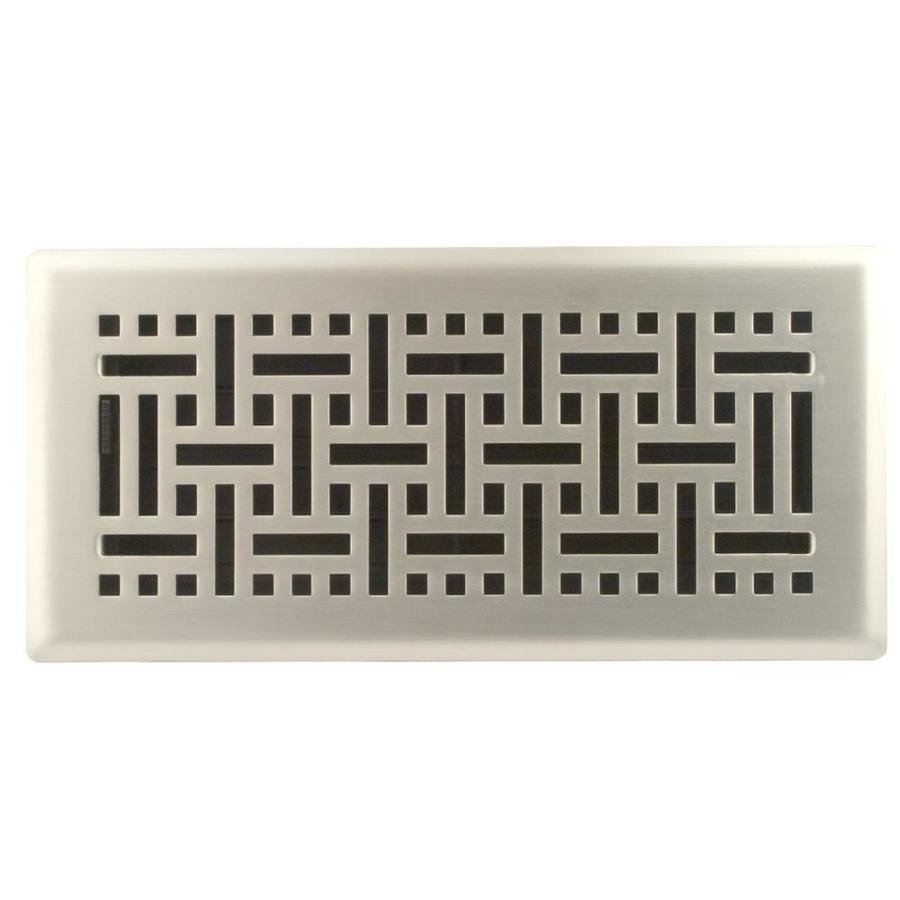 allen + roth Wicker Satin Nickel Steel Floor Register (Rough Opening: 10-in x 4-in; Actual: 11.46-in x 5.36-in)