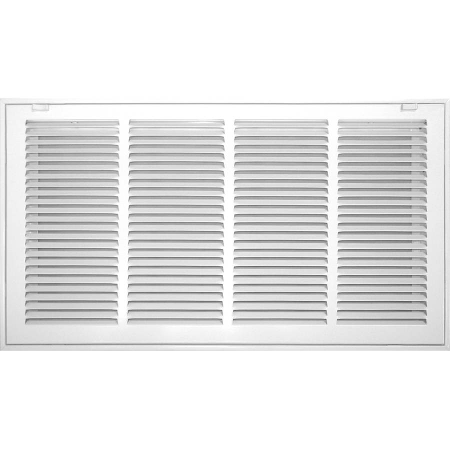 Accord 12-in x 30-in White Steel Filter Grille