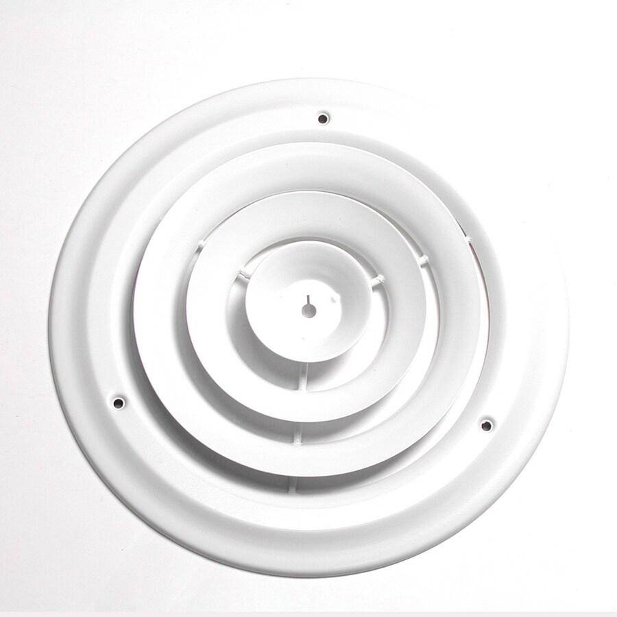 Accord 12-in Diameter White Steel Ceiling Diffuser