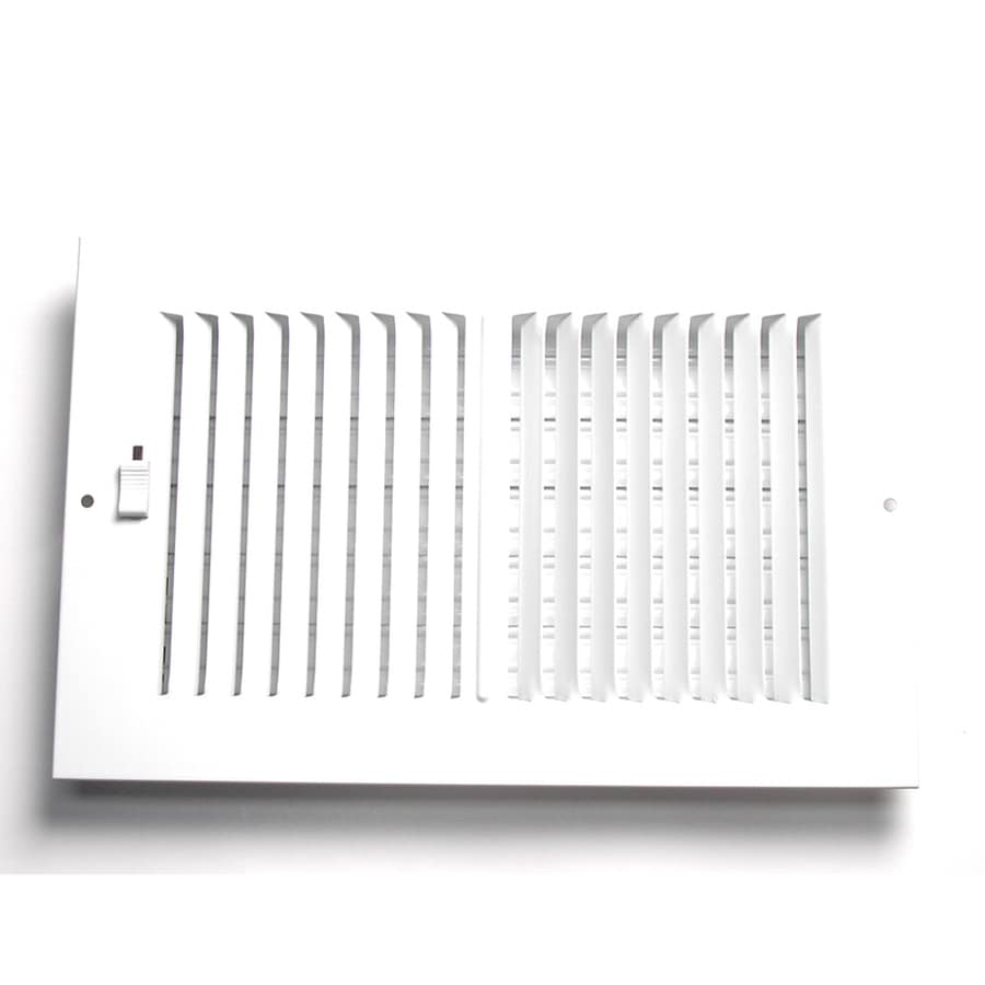 Accord 5-in x 10-in White Steel 2-Way Sidewall/Ceiling Register