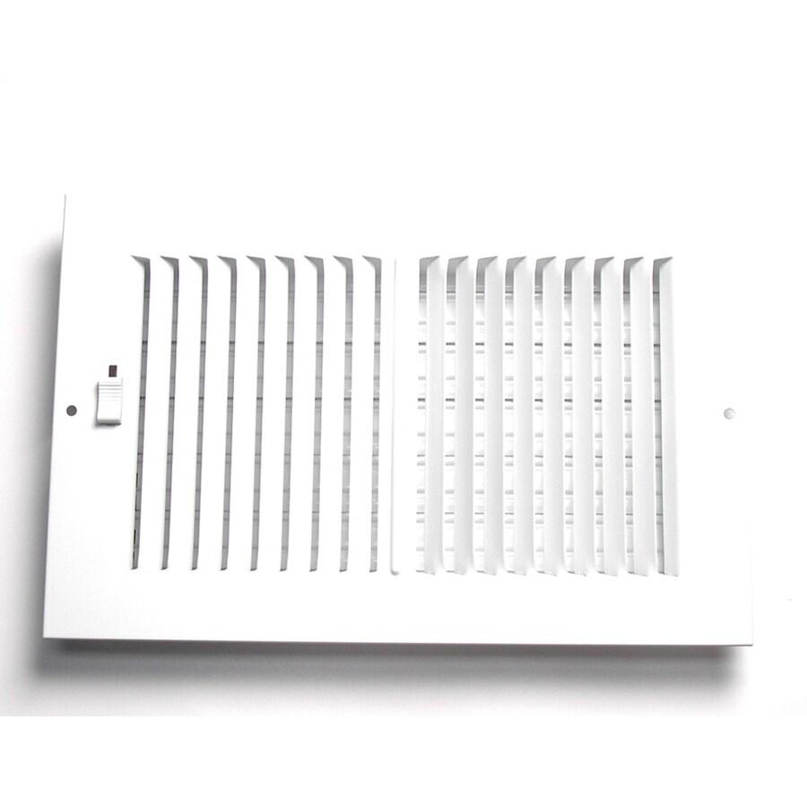 Accord 5-in x 12-in White Steel 2-Way Sidewall/Ceiling Register