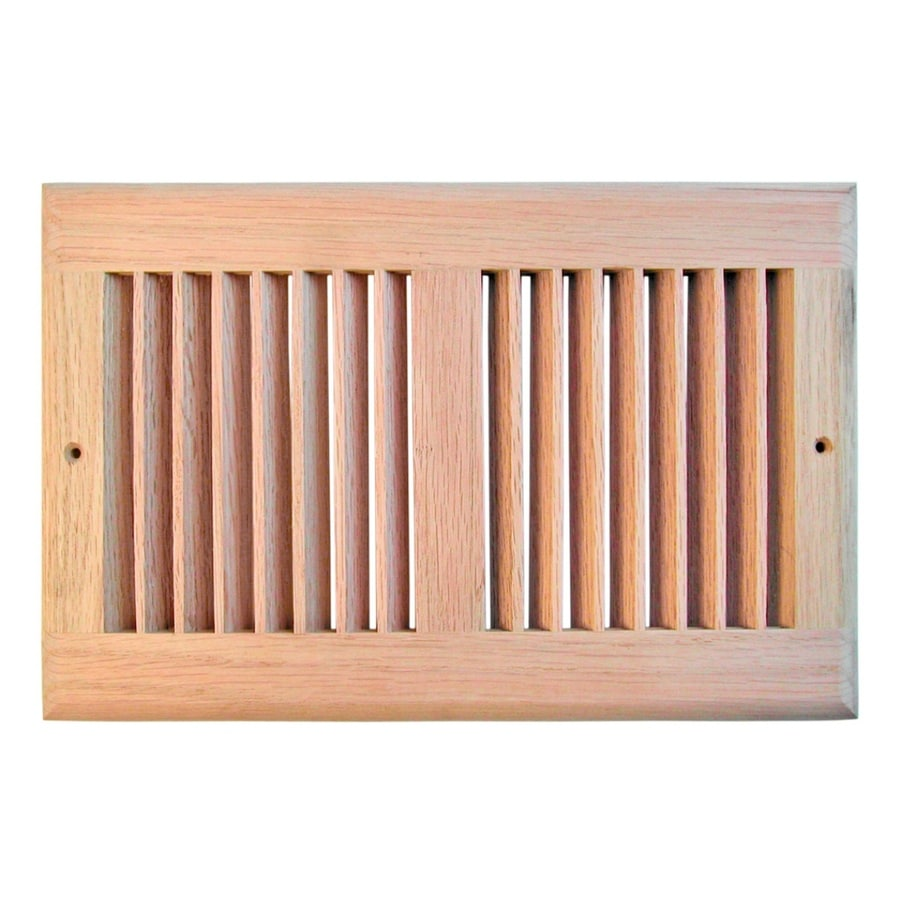 Accord Oak Unfinished Oak Wood Louvered Sidewall/Ceiling Grilles (Rough Opening: 10-in x 6-in; Actual: 11.5-in x 7.5-in)