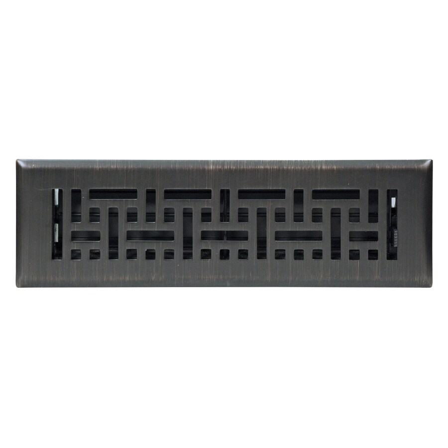Shop accord wicker oil rubbed bronze steel floor register for 10 x 10 floor register