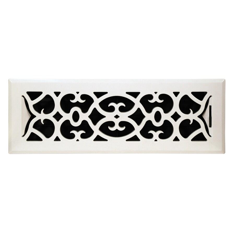 allen + roth 4-in x 14-in White ABS Resin Floor Register