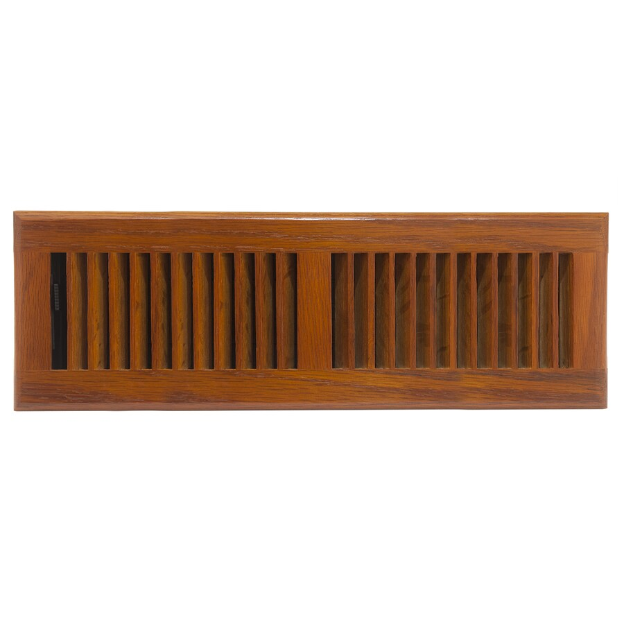 allen + roth Oak Medium Stain Wood Floor Register (Rough Opening: 14-in x 4-in; Actual: 15.42-in x 5.37-in)